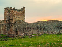 Parete della fortezza di Smederevo Fotografia Stock