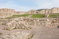 Parete della fortezza di Tsarevets, Veliko Tarnovo, Bulgaria Immagine Stock Libera da Diritti
