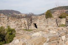 Parete della fortezza di Tsarevets, Veliko Tarnovo, Bulgaria Immagini Stock