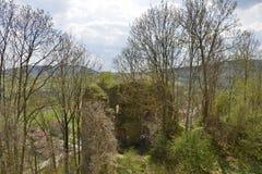 Parete della fortezza medievale di Bologa Fotografia Stock Libera da Diritti