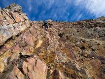 Parete della montagna con i punti Fotografie Stock