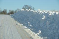 Parete della neve Fotografie Stock Libere da Diritti