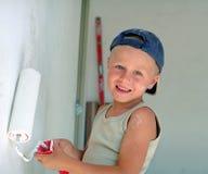 Parete della pittura del bambino Fotografia Stock Libera da Diritti