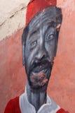 Parete della pittura dell'affresco in Essaouira, Marocco Fotografia Stock