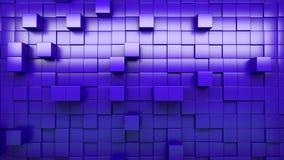 parete della rappresentazione 3d dei cubi espelsi archivi video