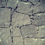 Parete della roccia vulcanica Fotografia Stock