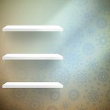 Parete della stanza con fiocchi di neve degli shelfs. ENV 10 Immagini Stock Libere da Diritti
