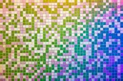 Parete della tessera, multicolore Fotografie Stock