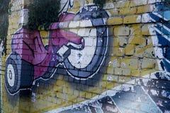 Parete della via art Immagini Stock Libere da Diritti