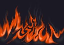Parete delle fiamme Fotografia Stock Libera da Diritti
