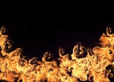 Parete delle fiamme Fotografie Stock Libere da Diritti