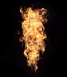 Parete delle fiamme Fotografia Stock