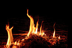 Parete delle fiamme Immagine Stock Libera da Diritti