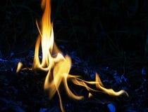 Parete delle fiamme Immagine Stock