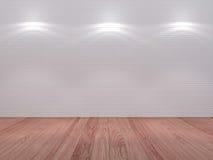 Parete delle mattonelle con un'illuminazione del punto Fotografia Stock