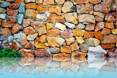 Parete delle mattonelle della roccia Fotografia Stock Libera da Diritti