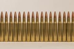 Parete delle munizioni unfired Immagini Stock Libere da Diritti