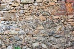 Parete delle pietre e dei mattoni Fotografie Stock