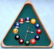 parete dello snooker degli orologi Fotografia Stock