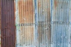 Parete dello zinco Fotografia Stock Libera da Diritti