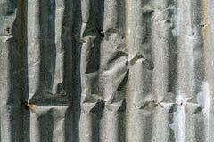Parete dello zinco Fotografie Stock