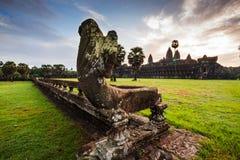 Parete di Angkor Wat Fotografie Stock