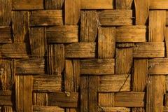 Parete di bambù Fotografia Stock