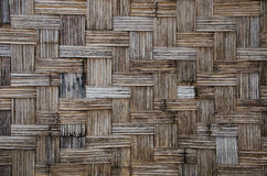 Parete di bambù del tessuto Fotografie Stock Libere da Diritti