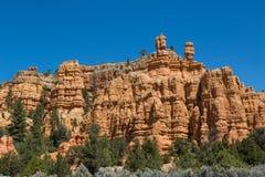 Parete di canyon rossa Fotografia Stock Libera da Diritti