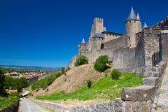 Parete di Carcassonne Immagini Stock Libere da Diritti
