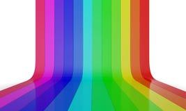 Parete 2 di colore dell'arcobaleno Immagine Stock
