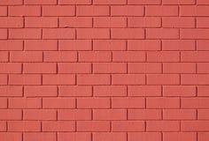 parete di colore rosso di mattone fotografie stock libere da diritti