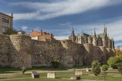 Parete di difensiva di Astorga Fotografia Stock