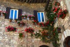 Parete di Exteriour della casa italiana Fotografie Stock Libere da Diritti