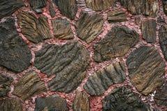 Parete di flusso di lava Fotografie Stock Libere da Diritti