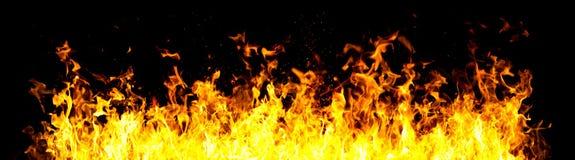 Parete di fuoco Fotografia Stock