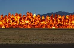 Parete di fuoco Fotografie Stock