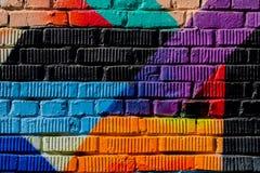 Parete di Graffity Estratto detal del primo piano urbano di progettazione di arte della via Cultura urbana iconica moderna, model Immagini Stock