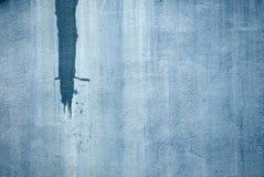 Parete di Grunge verniciata blu Fotografie Stock