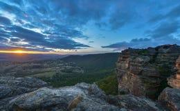 Parete di Hassans, parco nazionale blu della montagna, NSW, Australia Fotografia Stock Libera da Diritti