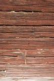 Parete di legname rossa Halsingland Svezia Fotografie Stock