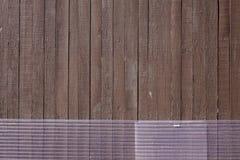Parete di legno alla casa rurale giapponese Fotografie Stock