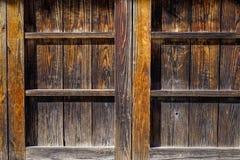 Parete di legno alla casa rurale giapponese Fotografia Stock