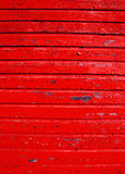 Parete di legno antica con la priorità bassa della vernice della sbucciatura Immagini Stock