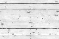 Parete di legno bianca fatta del legno di pino Immagini Stock