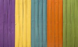 Parete di legno colorata senza cuciture di struttura Immagini Stock