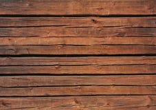 Parete di legno del Brown Fotografia Stock Libera da Diritti
