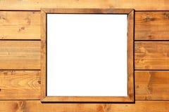 Parete di legno della finestra con copyspace Fotografia Stock