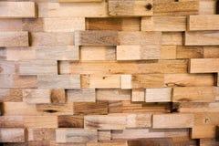 Parete di legno della plancia Fotografia Stock