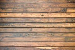 Parete di legno della plancia per fondo Fotografie Stock Libere da Diritti